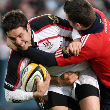 Ulster's Paddy Wallace in action against Munster