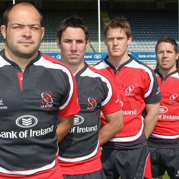 The Ulster players in their new changed strips
