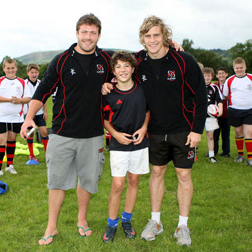 Inyaki Mateuspuches is pictured with Bryan Young and Andrew Trimble