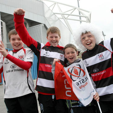 The Ulster fans were out in force at Thomond Park
