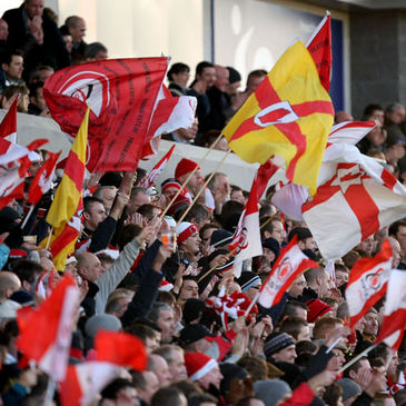 The Ulster fans at Ravenhill