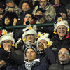 These Ulster supporters were a colourful addition to the 3,000-strong crowd at the Stadio di Monigo