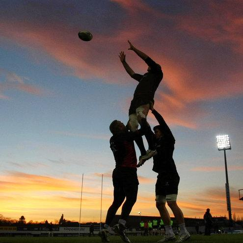 The Ulster players train at Ravenhill