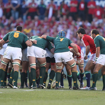 An uncontested scrum during one of the recent Lions Tests