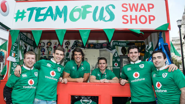 Vodafone Ireland Launches #TeamOfUs Shirt Swap