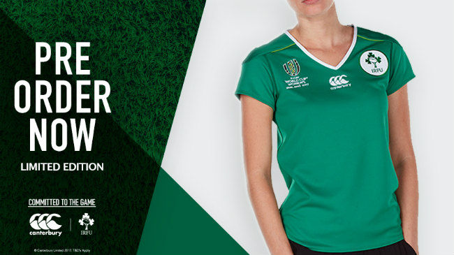 Canterbury Release Limited Edition WRWC 2017 Ireland Jersey