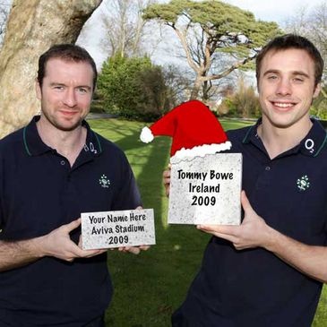 Jingle Bells, put your name on the Rugby Walk