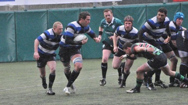 Action from Wanderers' first round win over Clogher Valley