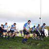 The Leinster players warm up for the session as their focus switches to the Heineken Cup opener against Racing Metro 92