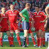 Match referee Wayne Barnes and Munster out-half Ronan O'Gara see the funny side of things during a lighter moment in Saturday's game at Thomond Park