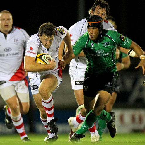 Willie Faloon in action for Ulster against Connacht