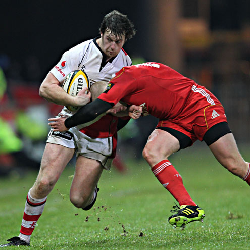 Willie Faloon in action against Munster