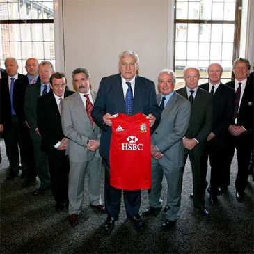 Willie John McBride and the Lions Legends team