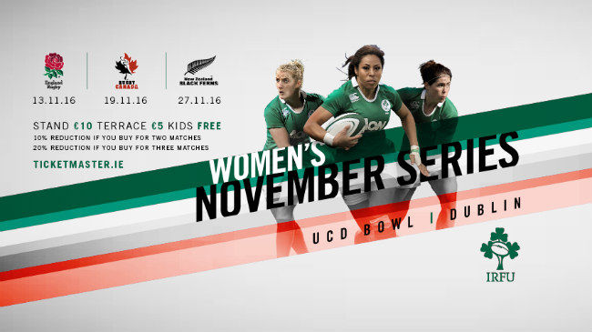 November Women's Series Tickets On Sale #BringIt
