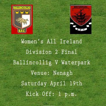 Ballincollig and Waterpark will meet on Saturday