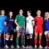 Fiona Coghlan, who led the Ireland Women to Grand Slam glory in 2013, is pictured with her fellow Six Nations captains