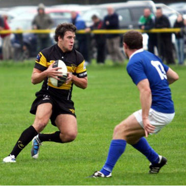 Action from Young Munster's recent win over St. Mary's College