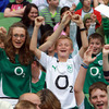 Ireland fans, both young and old, turned out at the Aviva Stadium to see the players train close up before the Rugby World Cup