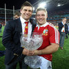 The Youngs brothers, scrum half Ben and hooker Tom, have reason to smile after both playing in the Lions' successful Test series against the Wallabies