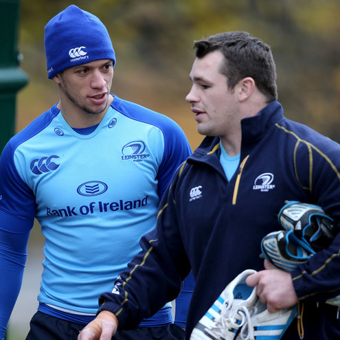 Leinster's Zane Kirchner and Cian Healy