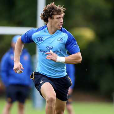 Zane Kirchner training with the Leinster squad