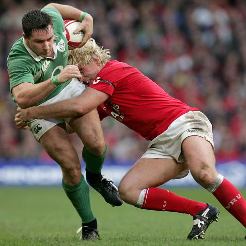 David Wallace in action against Wales
