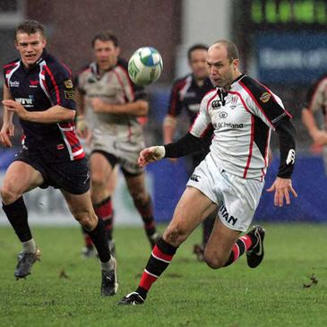 Adam Larkin in Heineken Cup action against Llanelli Scarlets