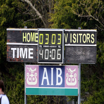 All square at half time in the AIB League?