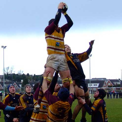 Lineout action from Bruff's win over Banbridge
