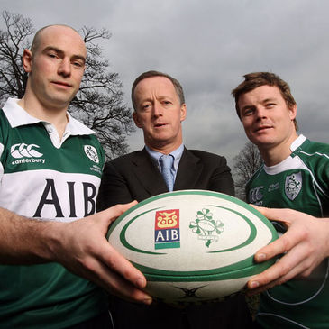 Hugh Hogan, Maurice Crowley and Brian O'Driscoll