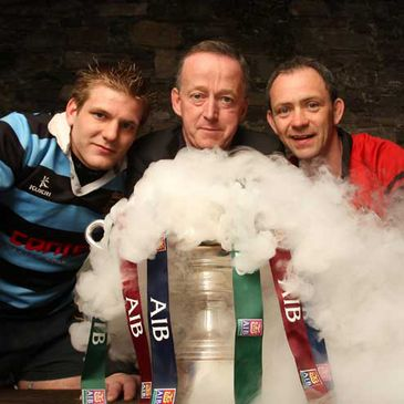 Bernard Smyth and Nigel Ravenhill are pictured with AIB's Maurice Crowley