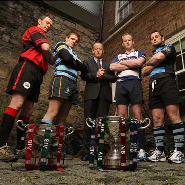 The captains for the cup finals gathered in Dublin today