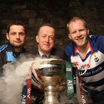 David Quinlan and Des Dillon with AIB General Manager Maurice Crowley