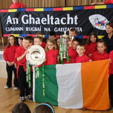 The RBS 6 Nations trophy and the Triple Crown were in Scoil Mhic Dara