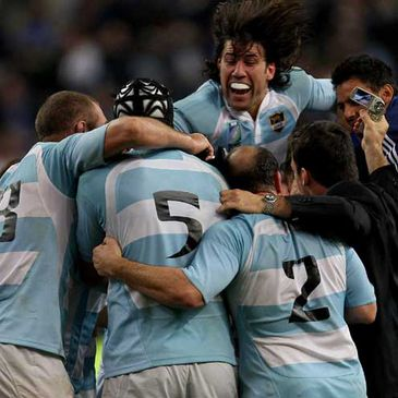 Argentina celebrate their Paris win