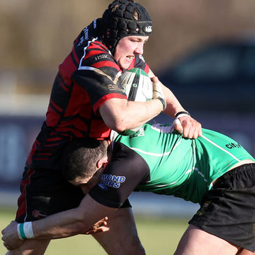 Timmy Clarke in Junior Cup action for Armagh