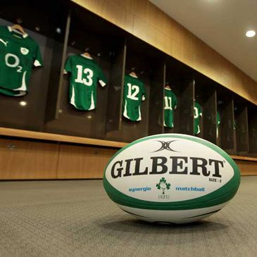 A view inside one of the Aviva Stadium dressing rooms
