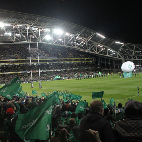 Ireland supporters at the Aviva Stadium