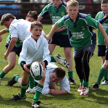 Action from the Aviva Rugby Festival at Ashbourne RFC