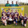Enniskillen Girls with Mike Ross, Fergus McFadden and David Kearney a the Aviva Mini Rugby Festival in Ashbourne