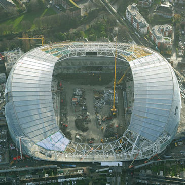 The Aviva Stadium is taking shape