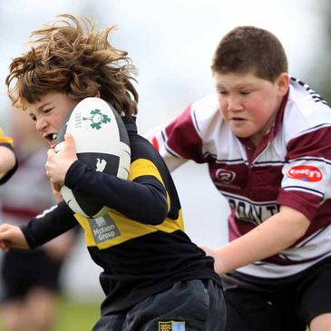 Action from the Aviva Rugby Festival in Ashbourne RFC