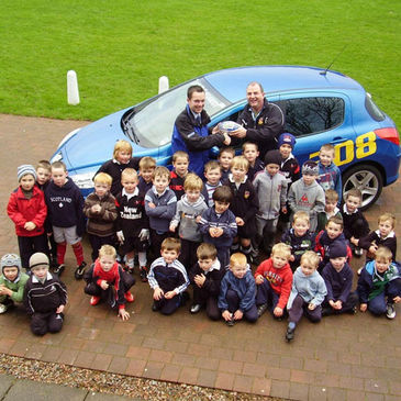 Ballymena's 'Rascals' at the launch of Rascal Rugby