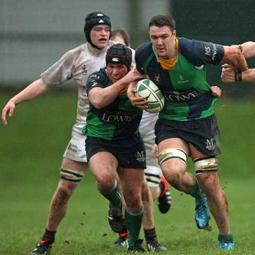 Ballynahinch in action against Trinity