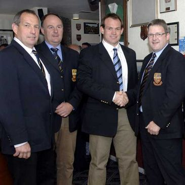 Simon Best is honoured by Banbridge RFC