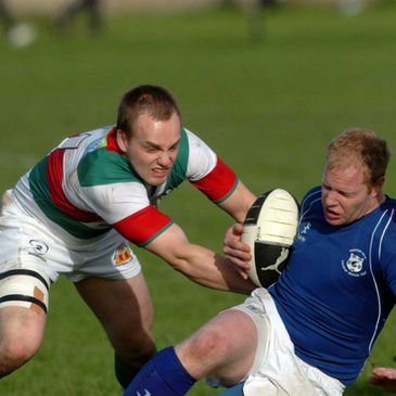 Action from the Bective Rangers v Thomond clash