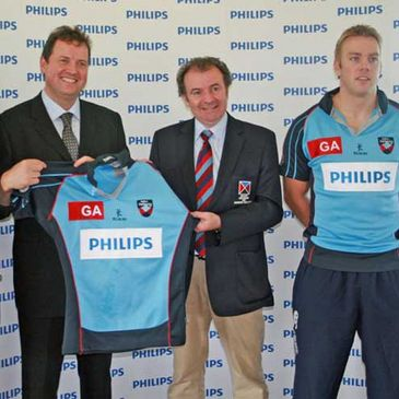 The launch of the new Belfast Harlequins sponsorship with Philips