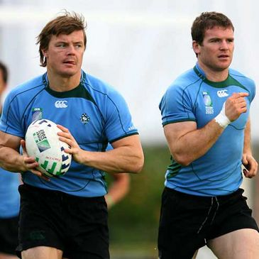 Leinster and Ireland's Brian O'Driscoll and Gordon D'Arcy