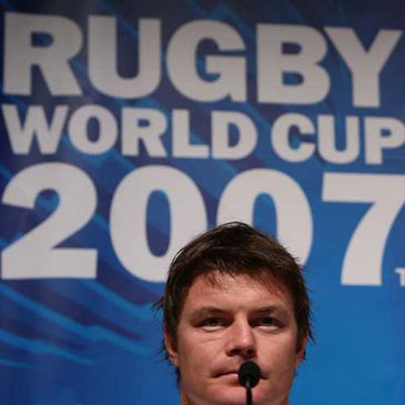 Brian O'Driscoll at today's press conference