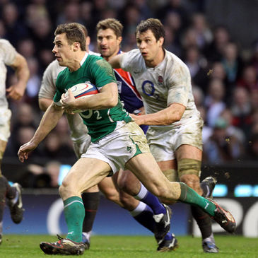Tommy Bowe in action against England